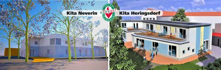 Bau-Update März 2020: Kita Heringsdorf und Neverin nehmen Formen an