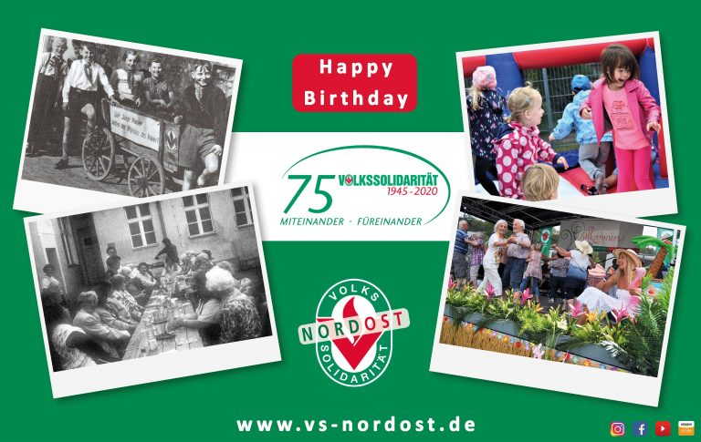 75 Jahre Volkssolidarität – Happy Birthday