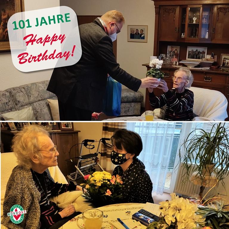 101 Jahre: Wir sagen Happy Birthday