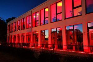 22.06. Das rote Boddenhus zur Night of Light